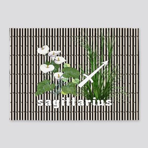 Bamboo and Lily Sagittarius 5'x7'Area Rug