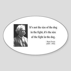 Mark Twain 2 Oval Sticker