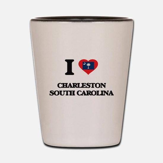 I love Charleston South Carolina Shot Glass