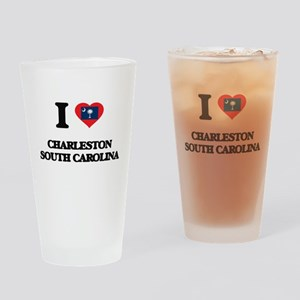 I love Charleston South Carolina Drinking Glass