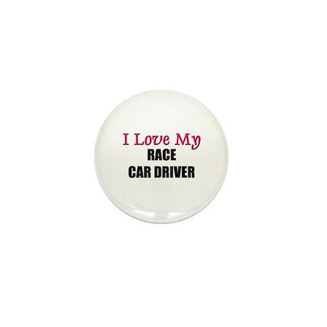 I Love My RACE CAR DRIVER Mini Button (10 pack)