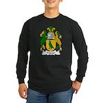 Poyner Family Crest Long Sleeve Dark T-Shirt