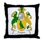 Poyner Family Crest Throw Pillow