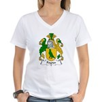 Poyner Family Crest  Women's V-Neck T-Shirt