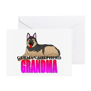 German shepherd grandma greeting cards cafepress m4hsunfo
