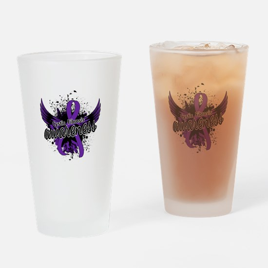 Cystic Fibrosis Awareness 16 Drinking Glass