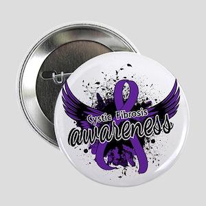 """Cystic Fibrosis Awareness 16 2.25"""" Button"""
