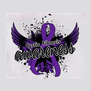 Cystic Fibrosis Awareness 16 Throw Blanket