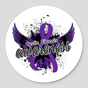 Cystic Fibrosis Awareness 16 Round Car Magnet