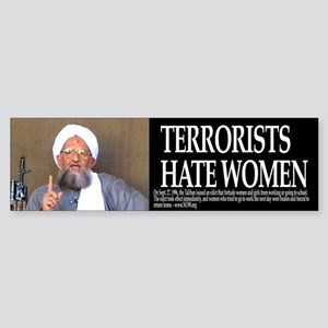 Terrorists Hate Women Bumpersticker