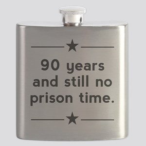 90 Years No Prison Time Flask