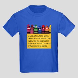 Peaceful Crayons Kids Dark T-Shirt