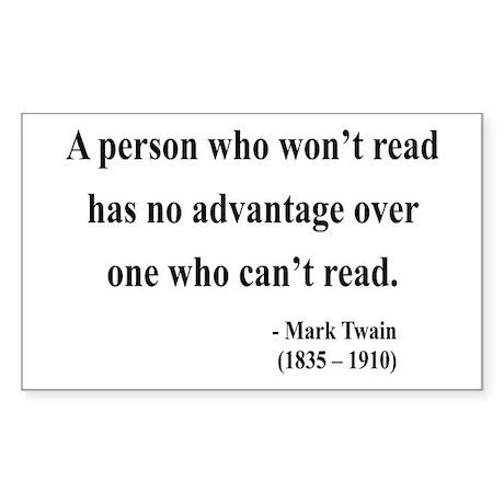 Mark Twain 3 Rectangle Sticker