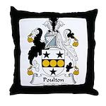 Poulton Family Crest Throw Pillow