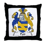 Pott Family Crest Throw Pillow