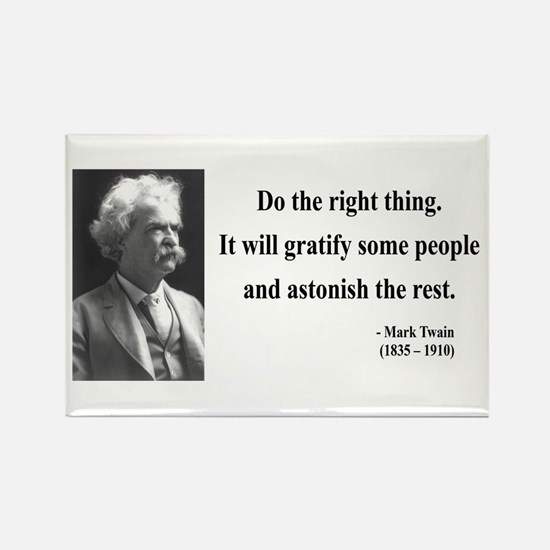 Mark Twain 4 Rectangle Magnet