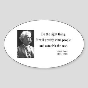 Mark Twain 4 Oval Sticker