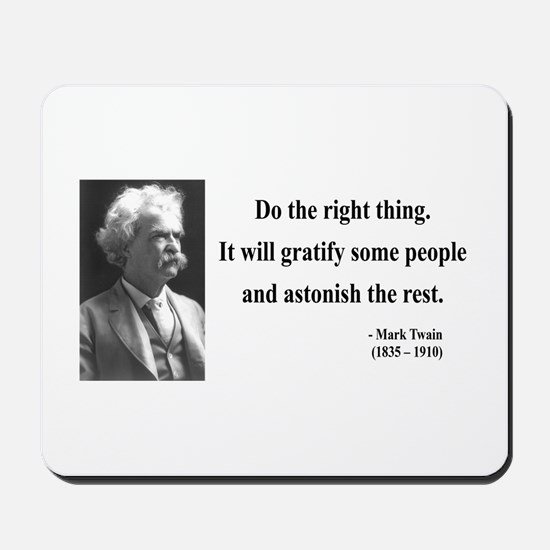 Mark Twain 4 Mousepad