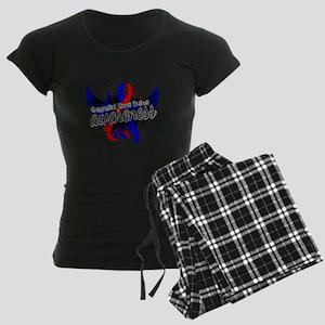 Congenital Heart Defect Awar Women's Dark Pajamas
