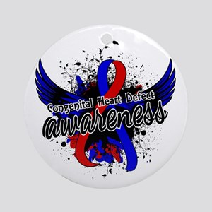 Congenital Heart Defect Awareness Ornament (Round)