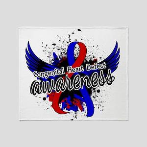 Congenital Heart Defect Awareness 16 Throw Blanket