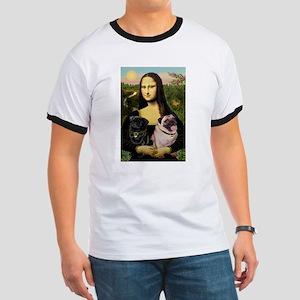 Mona's 2 Pugs Ringer T