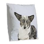 Cardigan Welsh Corgi Burlap Throw Pillow