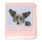 Cardigan Welsh Corgi baby blanket