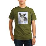 Cardigan Welsh Corgi Organic Men's T-Shirt (dark)