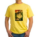 Dancer / 2 Pugs Yellow T-Shirt