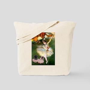 Dancer / 2 Pugs Tote Bag