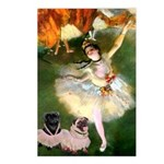 Dancer / 2 Pugs Postcards (Package of 8)