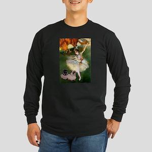 Dancer / 2 Pugs Long Sleeve Dark T-Shirt