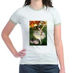 Dancer / 2 Pugs Jr. Ringer T-Shirt