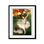 Dancer / 2 Pugs Framed Panel Print