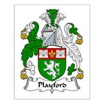 Playford Family Crest Small Poster