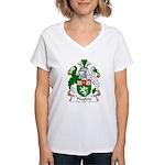Playford Family Crest Women's V-Neck T-Shirt