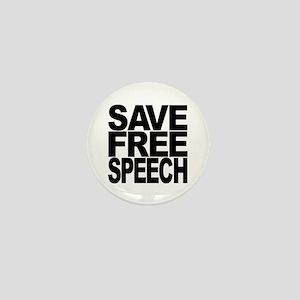 Save Free Speech Mini Button