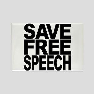 Save Free Speech Rectangle Magnet