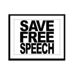 Save Free Speech Framed Panel Print