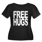 Free Hugs Women's Plus Size Scoop Neck Dark T-Shir