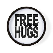 Free Hugs Wall Clock