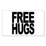 Free Hugs Rectangle Sticker