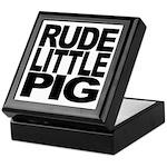 Rude Little Pig Keepsake Box