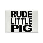 Rude Little Pig Rectangle Magnet (10 pack)