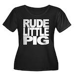 Rude Little Pig Women's Plus Size Scoop Neck Dark