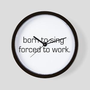 Born To Sing Wall Clock