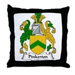 Pinkerton Family Crest Throw Pillow