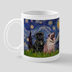 Starry Night / 2 Pugs Mug