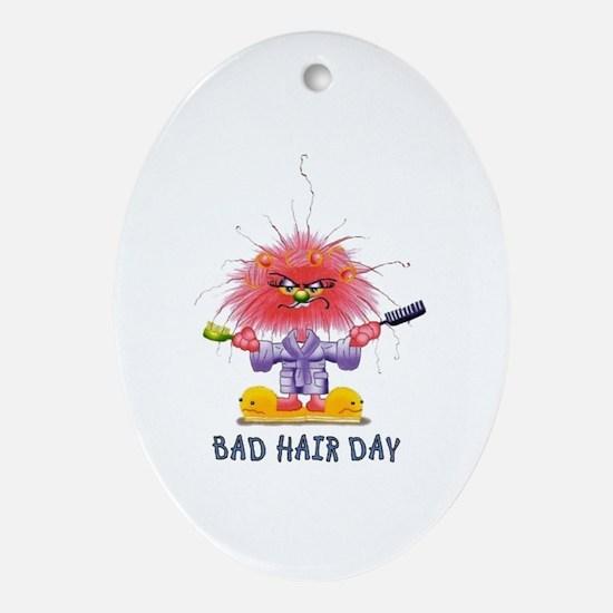 Zelda Bad Hair Day Oval Ornament